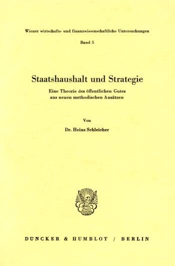 Cover: Wiener wirtschafts- und finanzwissenschaftliche Untersuchungen (WWFU)