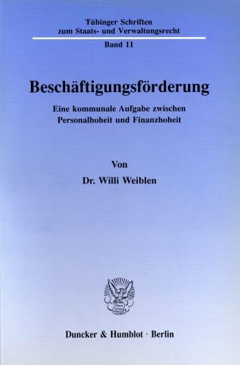 Cover: Beschäftigungsförderung