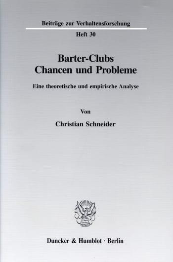 Cover: Barter-Clubs - Chancen und Probleme