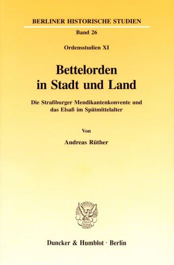 Cover: Bettelorden in Stadt und Land