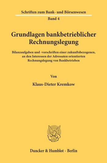 Cover: Grundlagen bankbetrieblicher Rechnungslegung