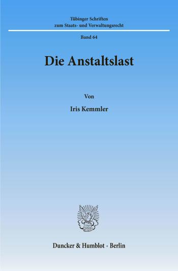 Cover: Die Anstaltslast