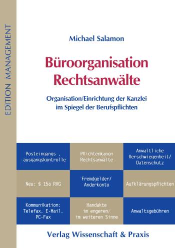 Cover: Büroorganisation Rechtsanwälte