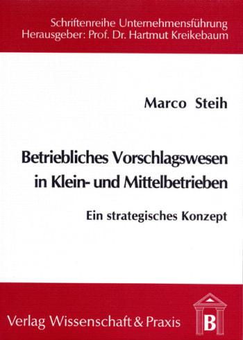 Cover: Betriebliches Vorschlagswesen in Klein- und Mittelbetrieben