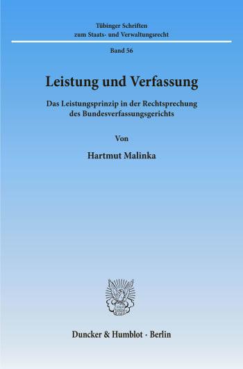 Cover: Leistung und Verfassung