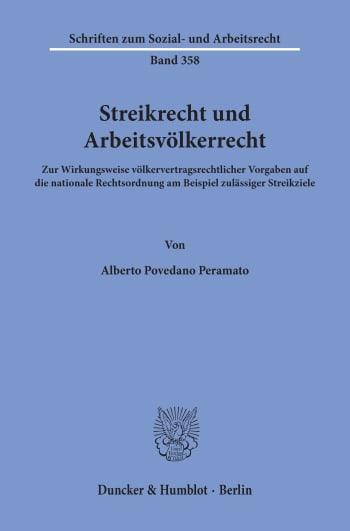 Cover: Streikrecht und Arbeitsvölkerrecht