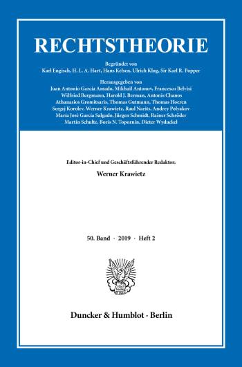 Cover: Rechtstheorie (RT)