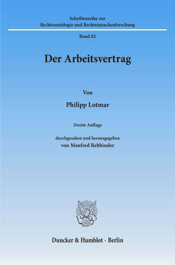 Cover: Der Arbeitsvertrag