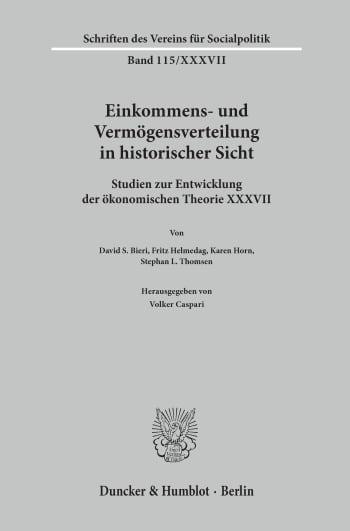 Cover: Einkommens- und Vermögensverteilung in historischer Sicht