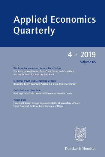 Cover: Applied Economics Quarterly (AEQ)
