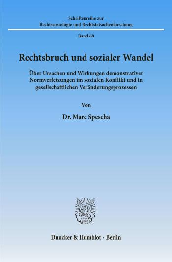 Cover: Rechtsbruch und sozialer Wandel