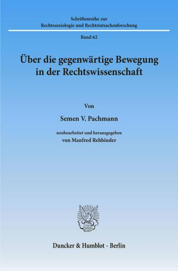 Cover: Über die gegenwärtige Bewegung in der Rechtswissenschaft