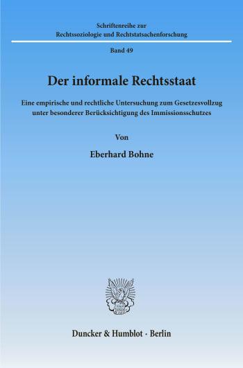 Cover: Der informale Rechtsstaat
