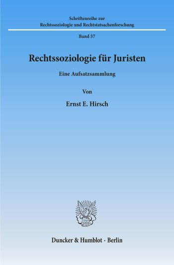 Cover: Rechtssoziologie für Juristen