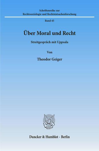 Cover: Über Moral und Recht