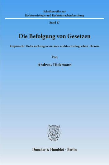 Cover: Die Befolgung von Gesetzen