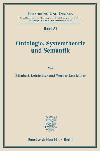 Cover: Ontologie, Systemtheorie und Semantik