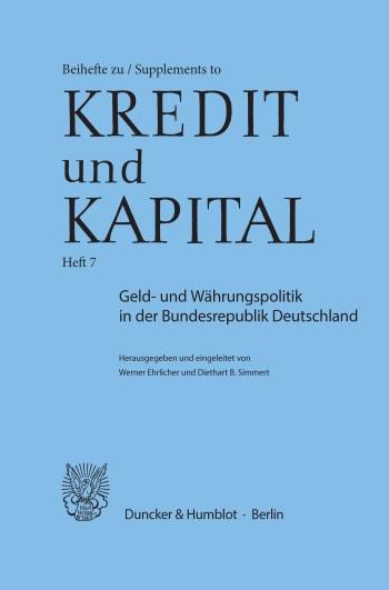 Cover: Geld- und Währungspolitik in der Bundesrepublik Deutschland