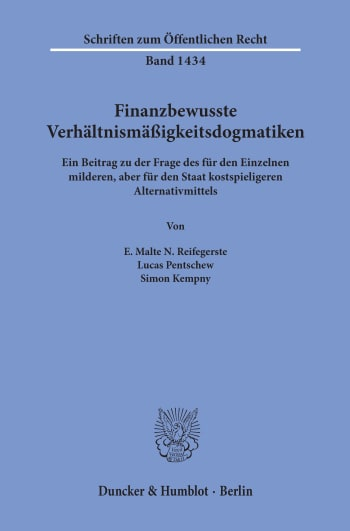 Cover: Finanzbewusste Verhältnismäßigkeitsdogmatiken