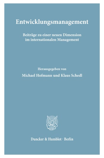 Cover: Entwicklungsmanagement