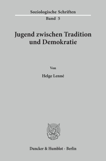 Cover: Jugend zwischen Tradition und Demokratie