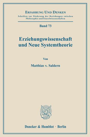Cover: Erziehungswissenschaft und Neue Systemtheorie