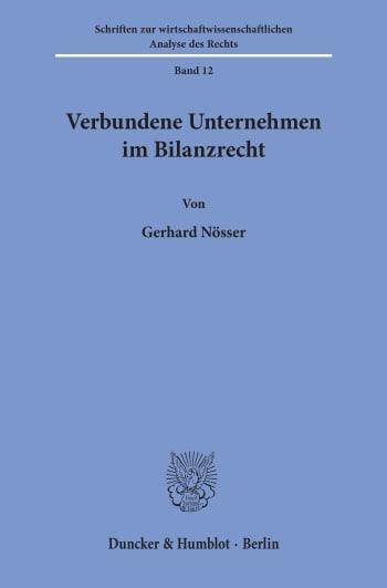 Cover: Verbundene Unternehmen im Bilanzrecht