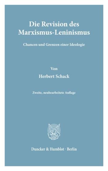 Cover: Die Revision des Marxismus-Leninismus