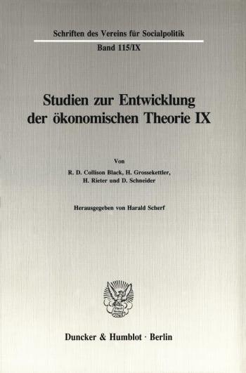 Cover: Untersuchungen zu Quesnay, Stein, Jevons und zur allgemeinen Gleichgewichtstheorie