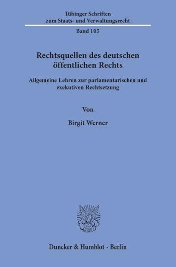 Cover: Rechtsquellen des deutschen öffentlichen Rechts