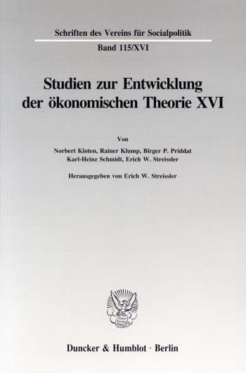 Cover: Die Umsetzung wirtschaftspolitischer Grundkonzeptionen in die kontinentaleuropäische Praxis des 19. und 20. Jahrhunderts, I. Teil