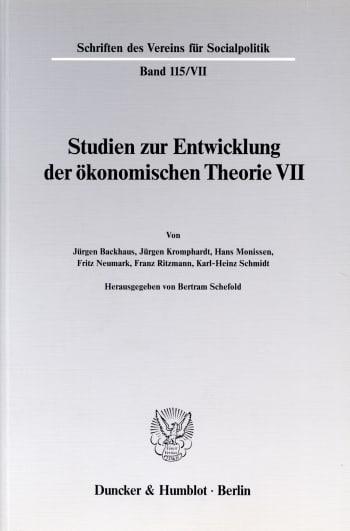 Cover: Probleme der Konjunkturtheorie im ausgehenden 19. Jahrhundert