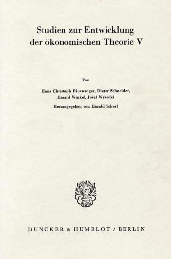 Cover: Deutsche Nationalökonomie zu Beginn des 19. Jahrhunderts
