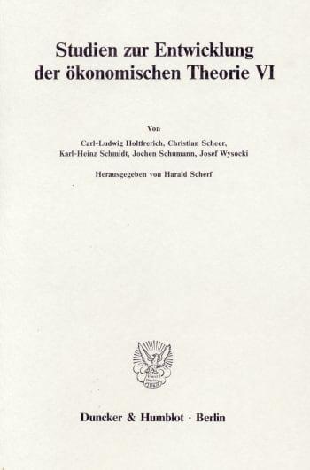 Cover: Deutsche Nationalökonomie im 19. Jahrhundert