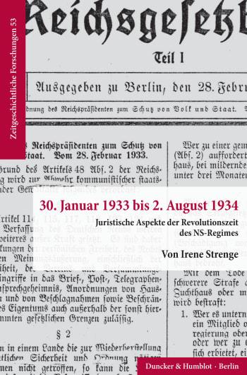 Cover: 30. Januar 1933 bis 2. August 1934