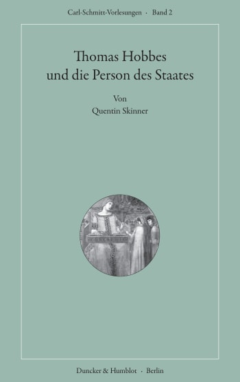 Cover: Thomas Hobbes und die Person des Staates