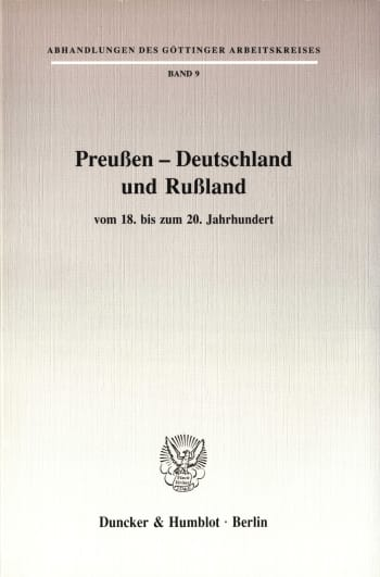 Cover: Preußen - Deutschland und Rußland