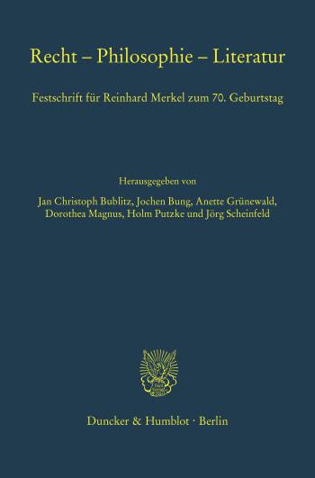 Cover: Recht – Philosophie – Literatur