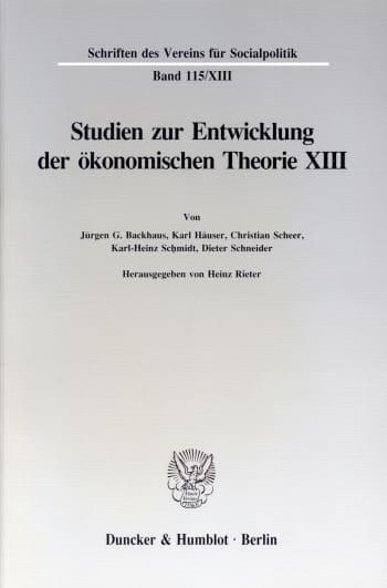 Cover: Deutsche Finanzwissenschaft zwischen 1918 und 1939