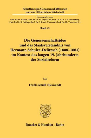 Cover: Schriften zum Genossenschaftswesen und zur Öffentlichen Wirtschaft (GÖW)