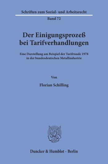 Cover: Der Einigungsprozeß bei Tarifverhandlungen
