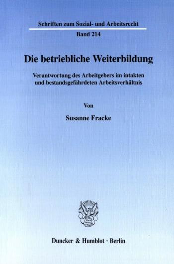 Cover: Die betriebliche Weiterbildung