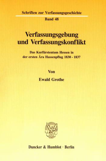 Cover: Verfassungsgebung und Verfassungskonflikt