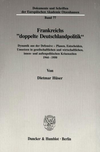 """Cover: Frankreichs """"doppelte Deutschlandpolitik"""""""