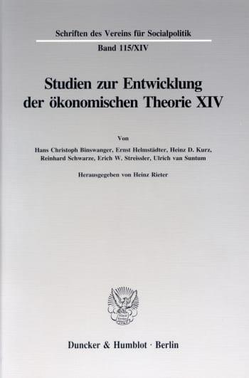 Cover: Johann Heinrich von Thünen als Wirtschaftstheoretiker