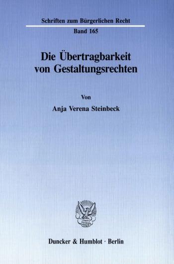 Cover: Die Übertragbarkeit von Gestaltungsrechten