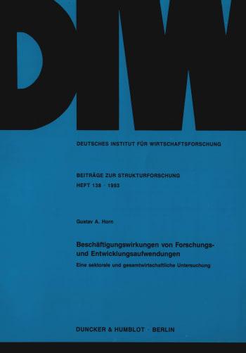 Cover: Beschäftigungswirkungen von Forschungs- und Entwicklungsaufwendungen