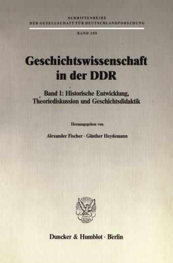 Cover: Geschichtswissenschaft in der DDR