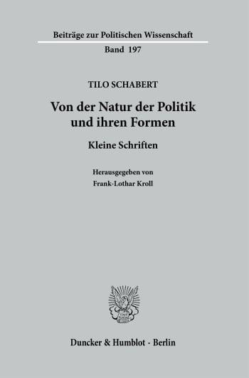 Cover: Von der Natur der Politik und ihren Formen