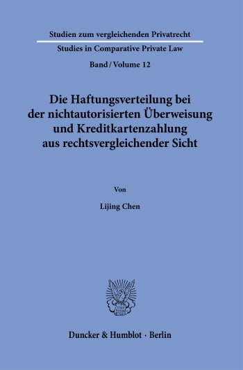 Cover: Studien zum vergleichenden Privatrecht / Studies in Comparative Private Law (SVP)